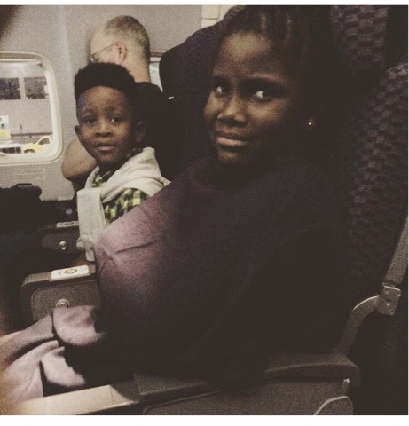 Olabisi balogun the daughter of tee billz and her brother