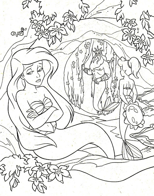 Princess Ariel Sad Coloring Pages  Princess Coloring Pages