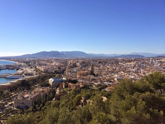 Panoramica, desde Gibralfaro, Málaga
