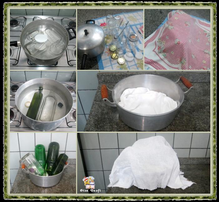 Esterelizando vidros para licores 2