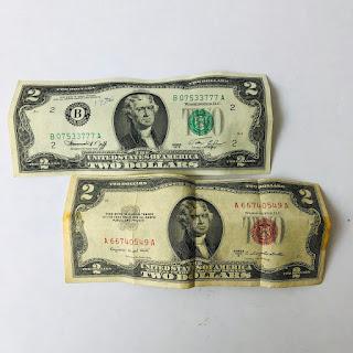 Lot of 2 Dollar Bills   Shophousingworks