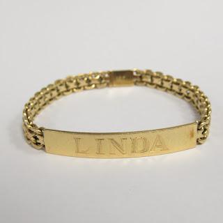 18K Gold Heavy Signet Bracelet