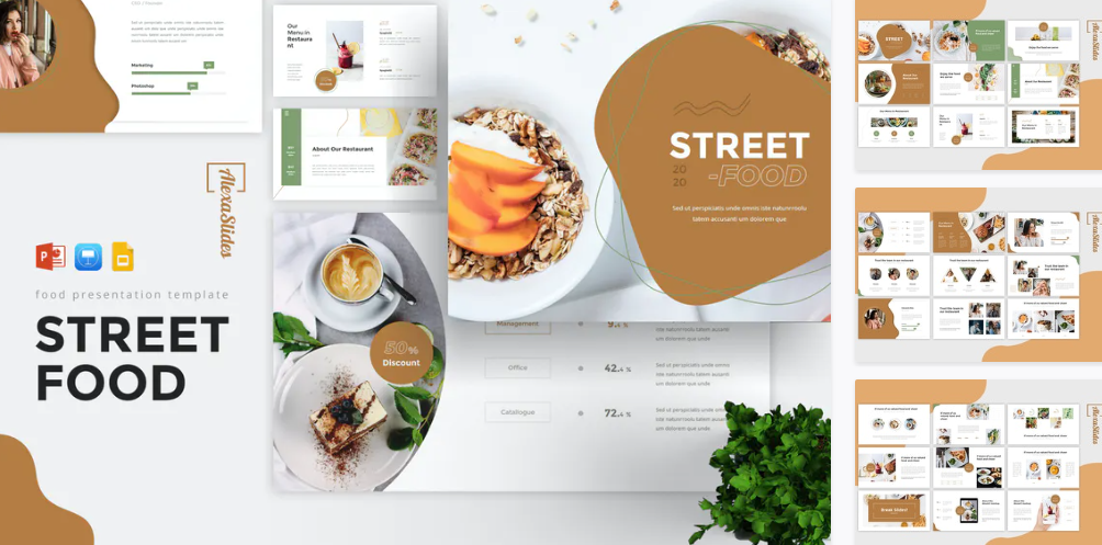 StreetFood - Food Powerpoint Template