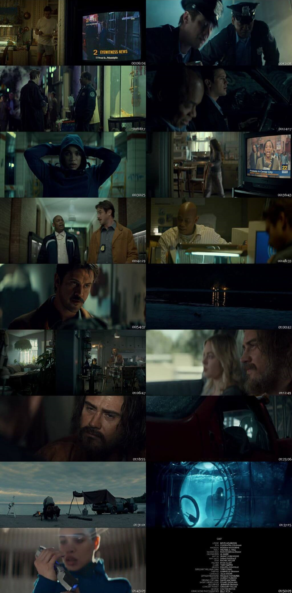 Screen Shot Of In the Shadow of the Moon 2019 300MB Full Movie Hindi Dubbed Free Download 480P BRRip Small Size PC Movie
