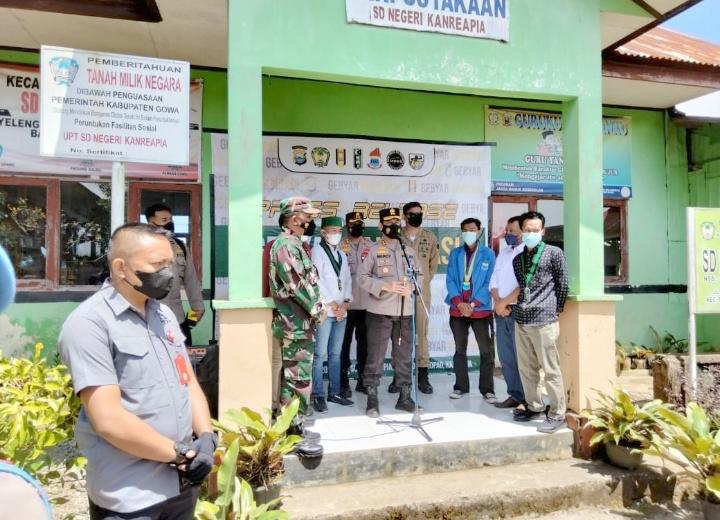 Polda Sulsel Sukses Gelar Vaksinasi Massal di Kab. Gowa