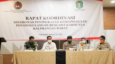Kasdam XII/Tpr : Kodam Berkomitmen Bantu Pemerintah Dalam Penanggulangan Karhutla