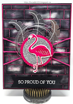 Linda Vich Creates: Pop of Paradise For My Daughter. An inked and embossed brick matte serves as the backdrop for this stunning Pop of Paradise flamingo card.