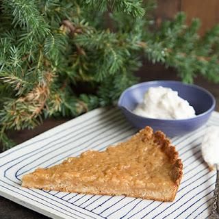 Eggnog Tart with Sugar Cookie Crust.