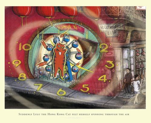 picture book, cat story, children's book, the hong kong time machine, ellen leou, hong kong book, hong kong cat, hong kong children's book, illustrated book, lulu, lulu the hong kong cat,