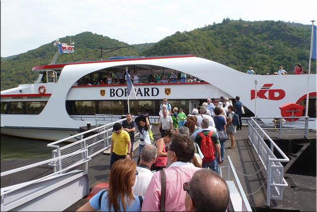 Embarcando para el crucero por el Rhein