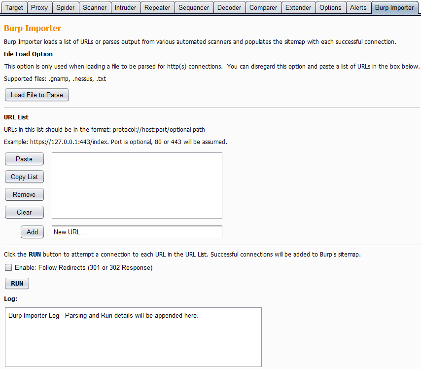 Burp Suite Extension: Burp Importer ~ SmeegeSec