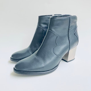 Zadig & Voltaire Molly Black Leather Ankle Boots