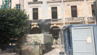 Fachada de la Casa Consistorial aún en obras