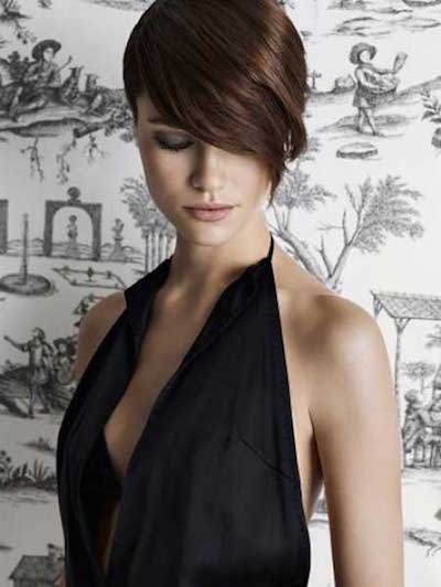 2018 Short Hair With Bangs For Women's 4