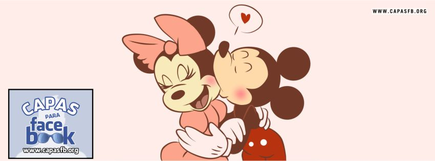 Capas para Facebook Minnie e Mickey Love