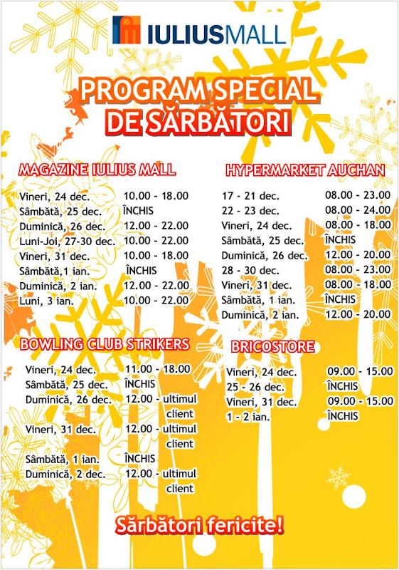Program de sarbători Iulius Mall Suceava