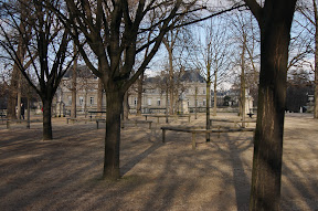 On the grounds of Luxembourg Palace