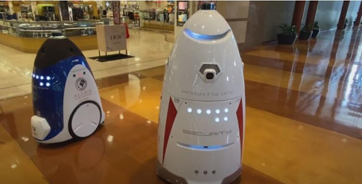 Security robots patrol the Mall at Stonecrest