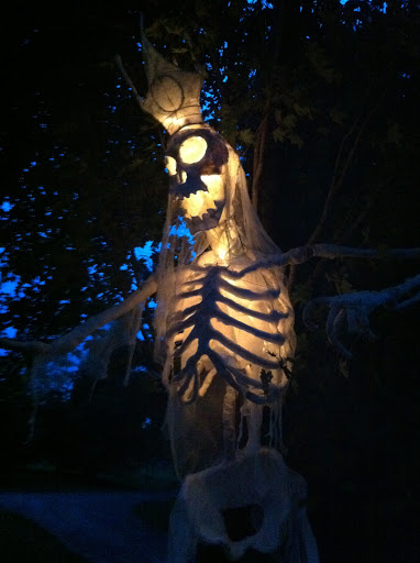 The Skeleton King at night!