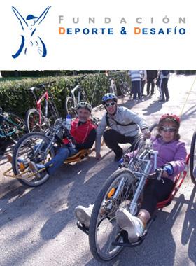 Colabora acompañando a personas con discapacidad en bicicleta por el Anillo Verde de Madrid