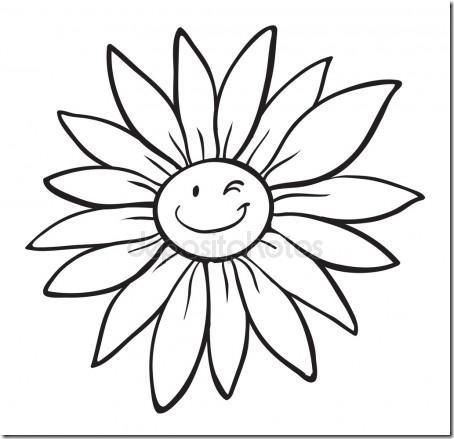 flore sencillas para colorear  (10)