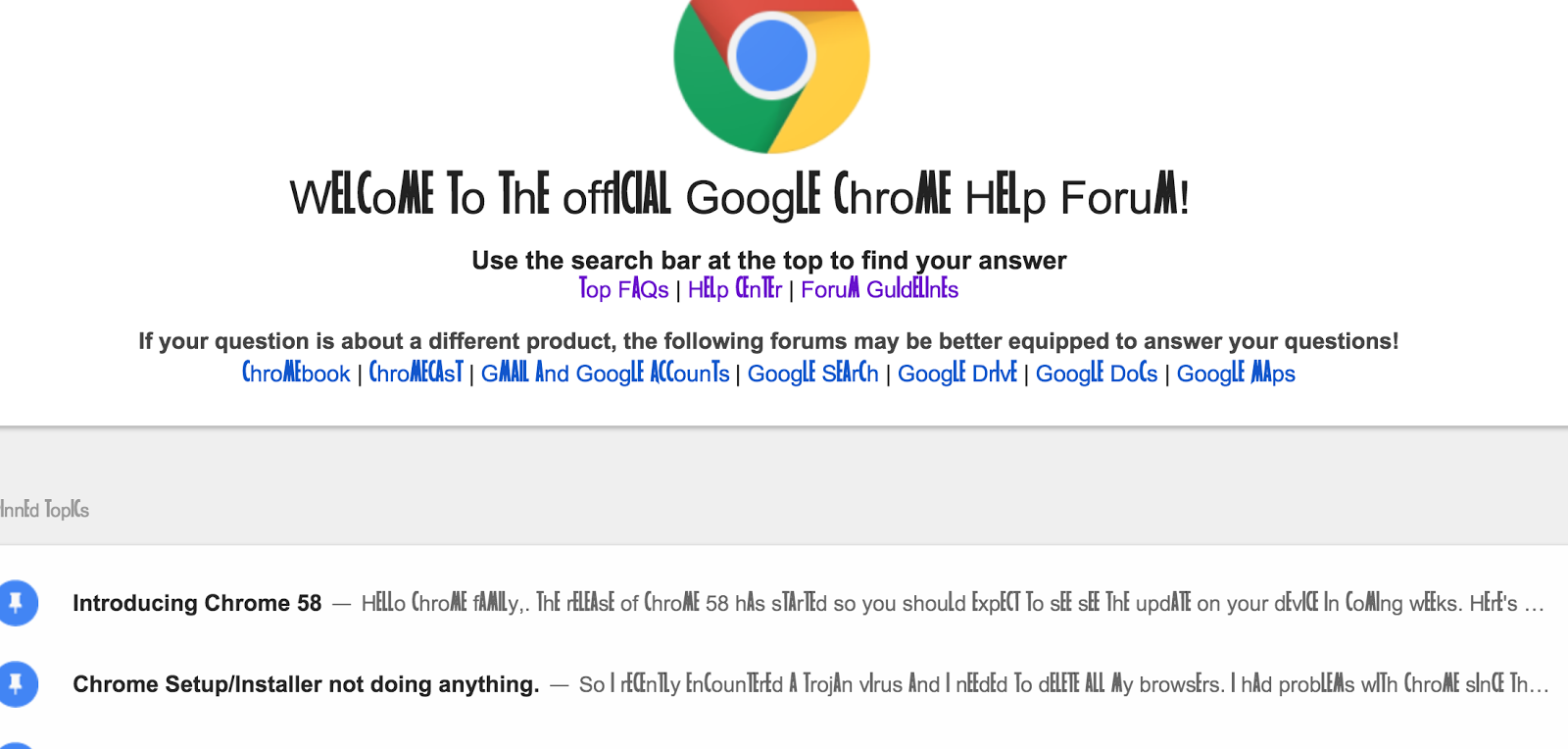 I installed some font and now my google chrome browers has