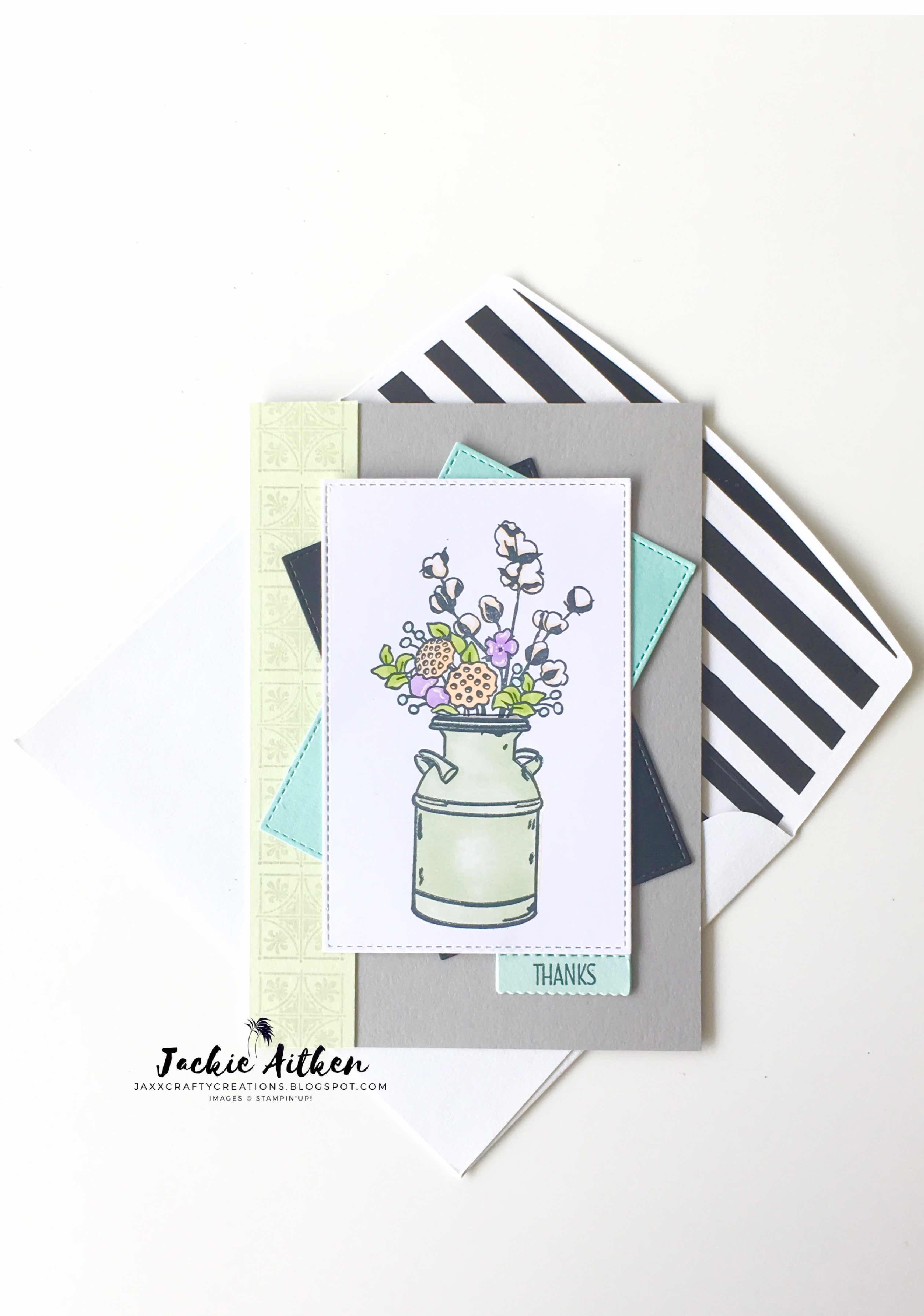 Jaxx Crafty Creations, Country Home stamp set, stampin up, stitched cards