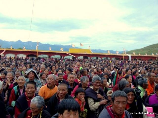 Massive religious gathering and enthronement of Dalai Lama's portrait in Lithang, Tibet. - l66.JPG