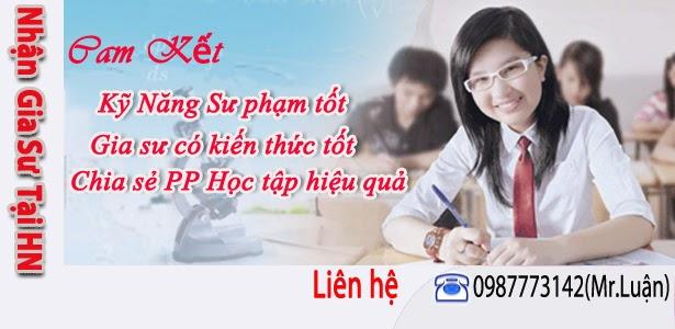 Gia sư toán Lý Hóa tại Hà Nội