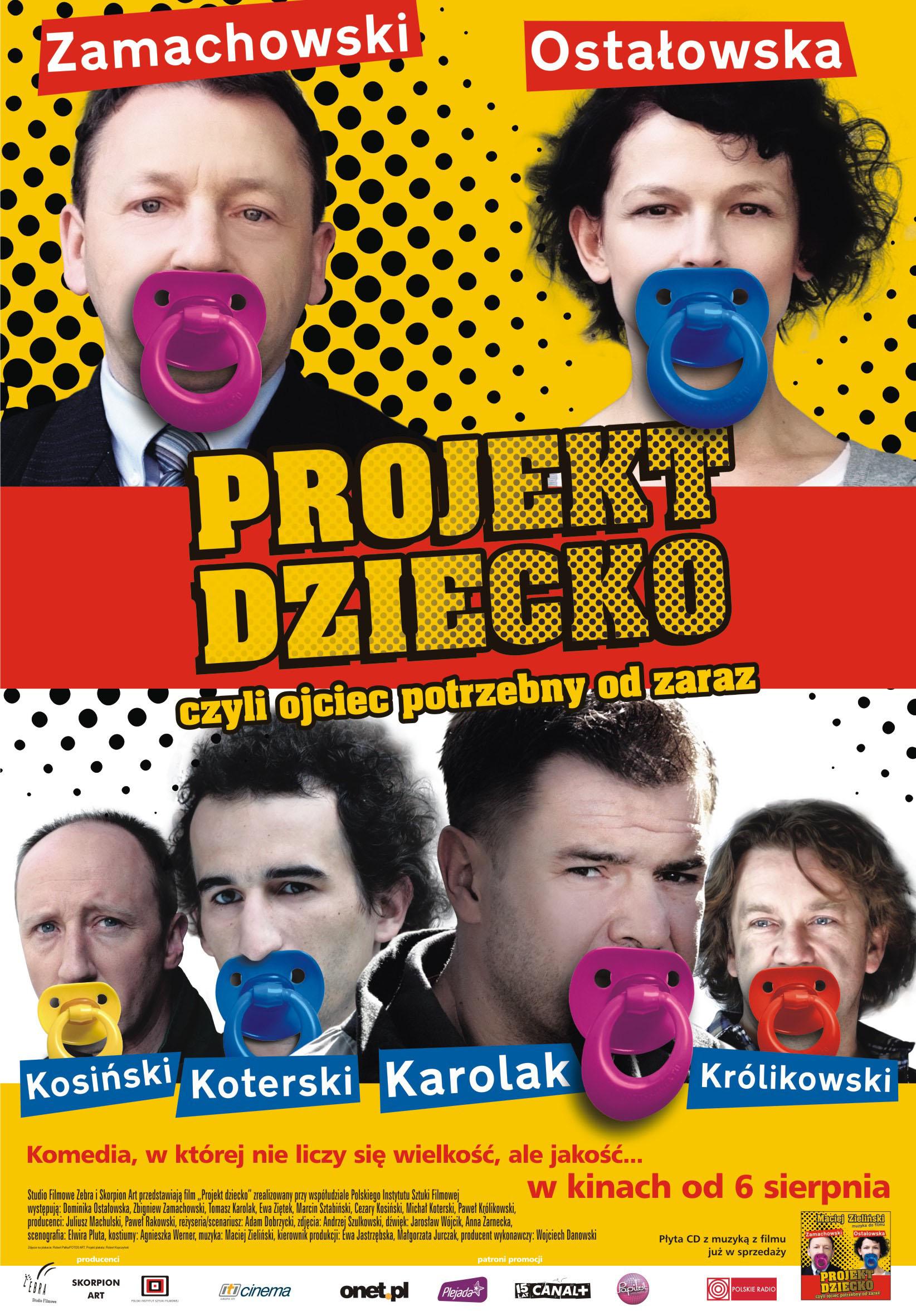 Polski plakat filmu 'Projekt Dziecko, Czyli Ojciec Potrzebny Od Zaraz'
