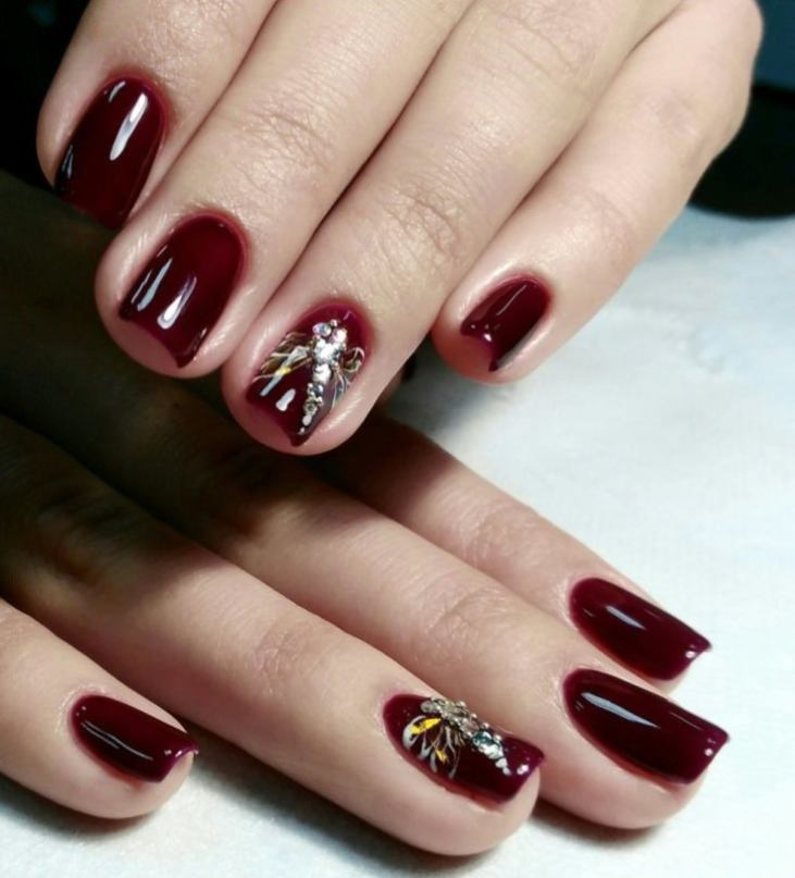 Latest Red Nail Designs-Cute Nail Art Ideas 7