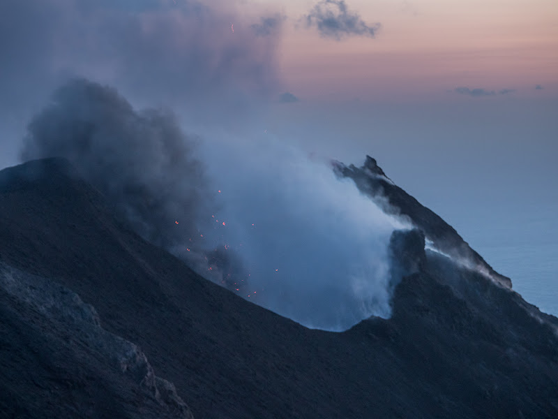 Cràter fumejant de l'Stromboli