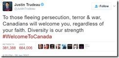 Trudeau tweet muslim