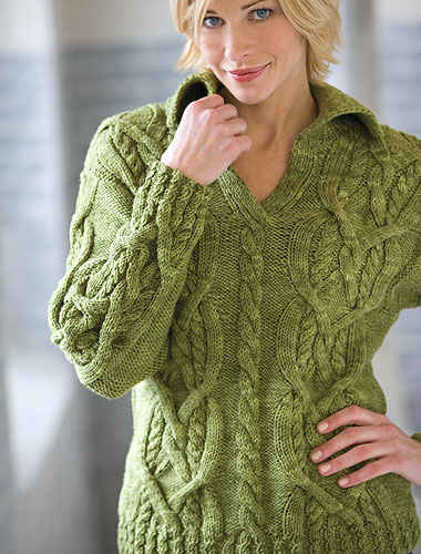 Knitting Patterns For Women : Womens knitted sweater patterns-Knitting Gallery