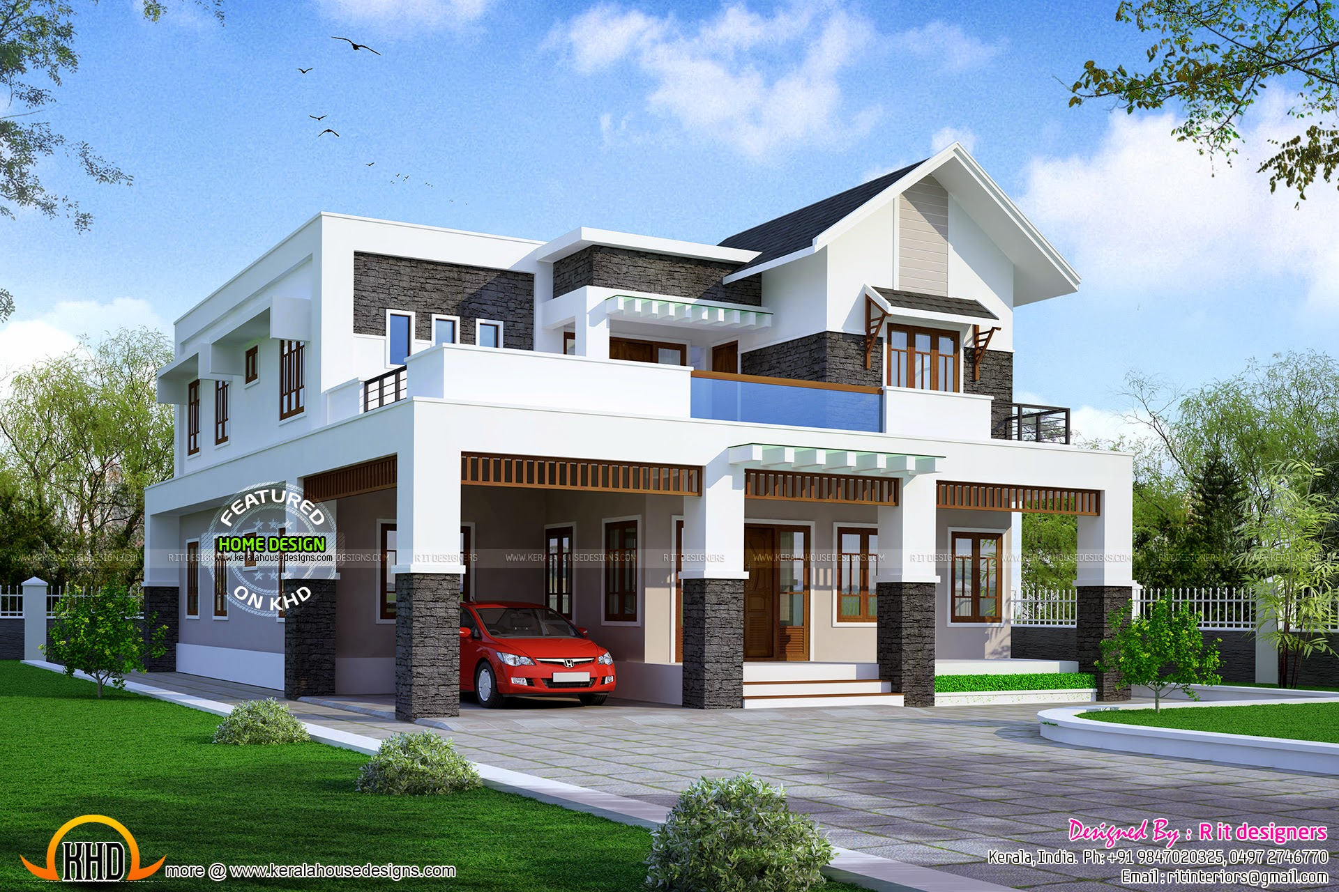April 2015 kerala home design and floor plans for House 4