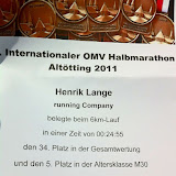 20. Internationaler OMV Halbmarathon Altötting 04.09.2011