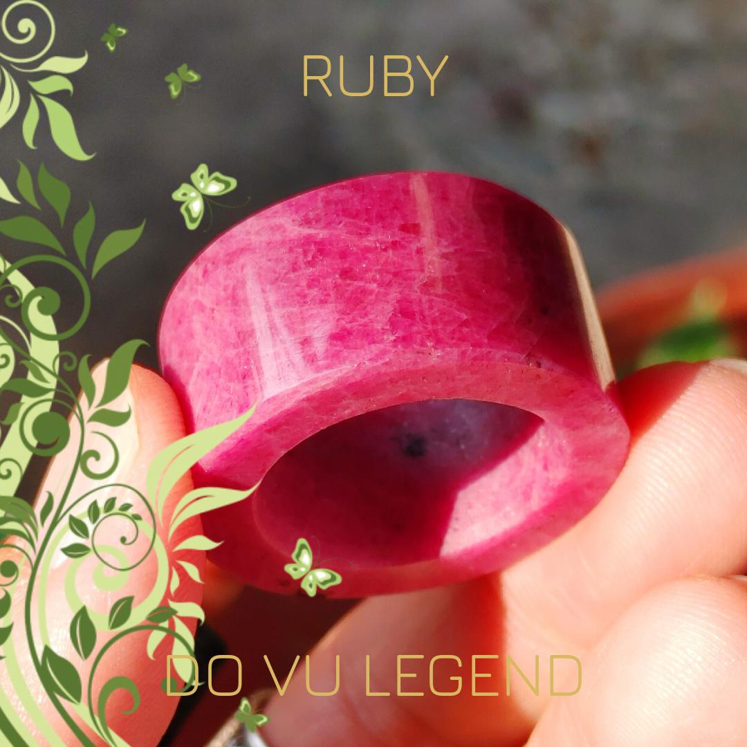 Nhẫn Càn Long đá quý Ruby nguyên khối
