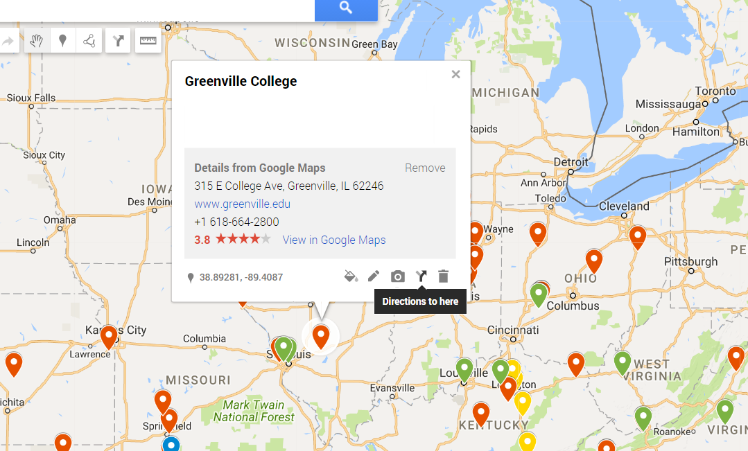 location names to show up on a google map - Google Maps-Hilfe
