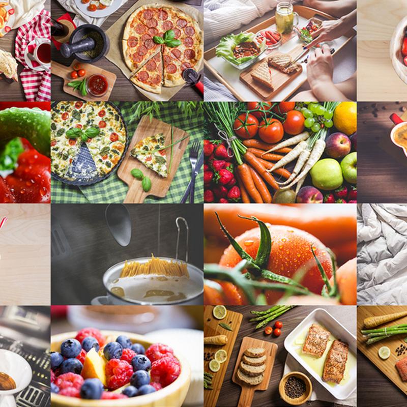 Paquete de 20 fotografías profesionales de comida en alta calidad