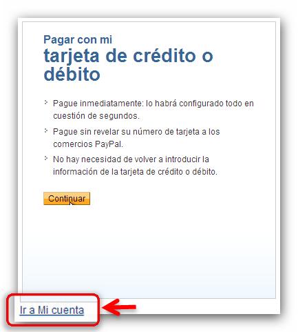 Credito o debito PayPal
