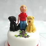 70th and Labrador's cake 2.JPG