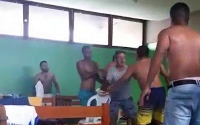 Atleta é esfaqueado após suposta briga por farinha: Veja o video