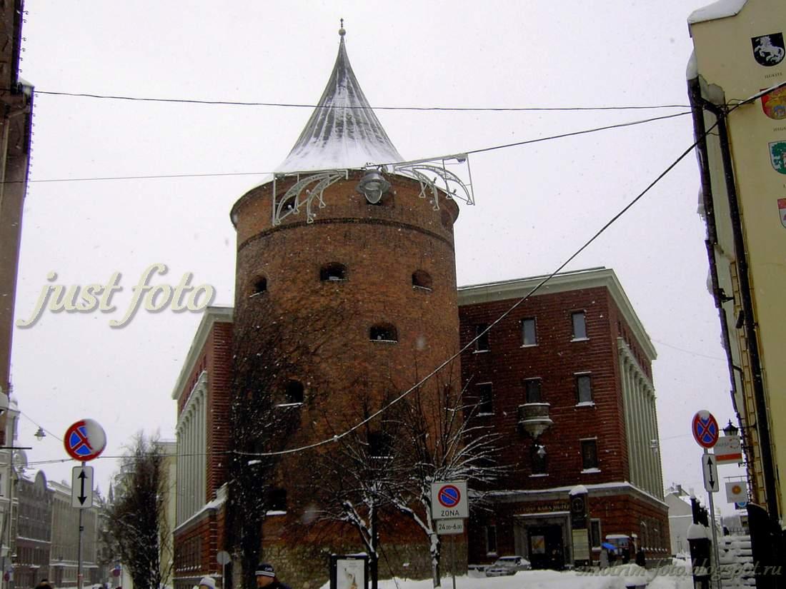 Новогодние каникулы в Риге - Пороховая башня