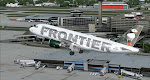"A great look at Tampa International as Frontier 359 is ""gear up"" and airborne, en-route to Denver"