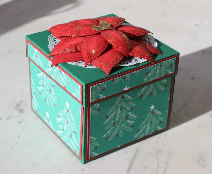 Explosion Box Weihnachten Christmas Poinsettia Christbaum Stampin Up Es weihnachtet sehr 00