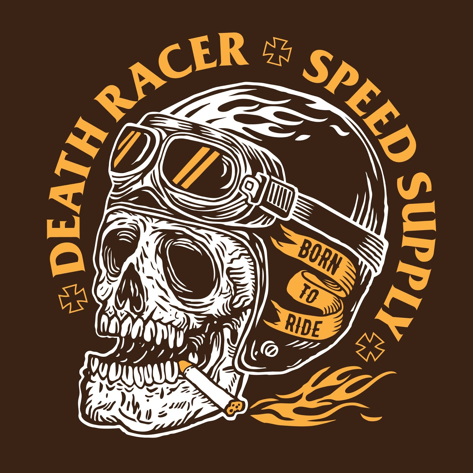Death Racer Free Download Vector CDR, AI, EPS and PNG Formats