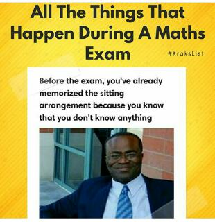 5 Hilarious Things That Happens During Mathematics Examination (Pictures)