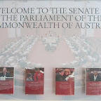 Canberra - im Neuen Parlamentsgebäude