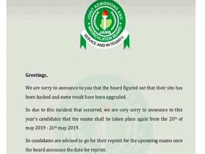 JAMB: Why We Cancelled Exams - JAMB Revealed, Reiterate Consequences Of Exam Malpractices.