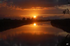 """""""Het kleine Paradijs"""" zonsondergang"""